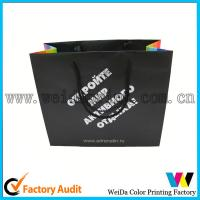Cheap Fashion Low Cost Kraft Printed Paper Shopping Bags With Handles for sale