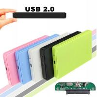 Cheap USB 2.0 External Hard Disk Case Slim Portable 2.5 HDD Enclosure SATA Hard Disk Drives HDD Case Plug And Play for sale