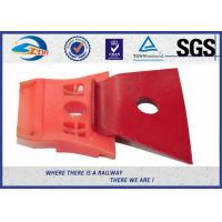 Quality Red Painting Nabla Railway Metal Spring Clips Steel 3 Million Times Fatigue Test wholesale