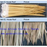 Cheap PVC Artificial Palm Synthetic Thatch Roofing Tiles for sale