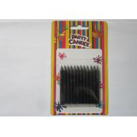 Cheap Black Flameless Smooth Slim Taper Candles Eco - Friendly Birthday Cake Decoration for sale