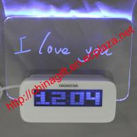 Cheap LED Luminous Message Board Digital Alarm Clock With Calendar 4 USB Hub for sale