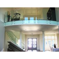 Cheap Tempered tinted glass railing with stainless steel standoff / patch fitting railing for sale