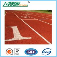 Cheap Running Track Flooring / Rubberized Outdoor Flooring 8 Lines High School for sale