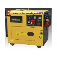 China Single Cylinder Soundproof 6kVA Diesel Powered Generator With 3 Phase Direct Injection on sale