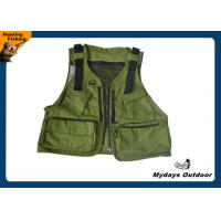 Army green youth hunting fishing vest 11 pockets with for Kids fishing vest