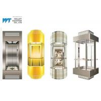 Cheap Various Cabin Shapes Panoramic Glass Elevator Max Journey 100M With Gearless Drive for sale