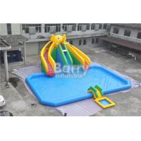 Cheap Mobile Large Commercial Inflatable Water Park With Elephant Slide Design Build for sale