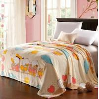 Cheap Polyester Fleece Micro Fiber Blanket Cartoon Duck , King Size Throw Blanket wholesale