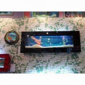 Cheap Black Mirror Design Stainless Steel Wall Aquarium for sale