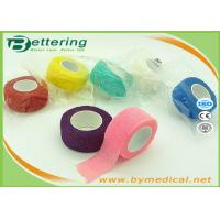 Cheap Non Woven Elastic Cohesive Bandage For Finger , Self Adherent Bandage Wrap for sale