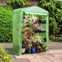 Cheap PE Mesh Cover Walk In Greenhouse / Customized Small Garden House No Tools Needls 145*143*195CM 140gsm lined PE wholesale