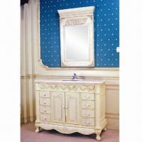 Cheap Bathroom Vanity, Two Solid Wood Doors with Soft-close Hinges for sale