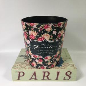 Cheap Vintage Round Rose Floral Waste bin Without lid Trash Cans Bin Bins Waste Bin for sale