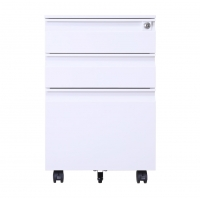 China Steel Mobile Pedestal Filing Cabinets With Three Drawers For Office Home Under Table on sale