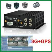 Cheap G-Sensor H.264 Wireless Vehicle 4 CH Mobile DVR with free CMS software Realtime Monitoring for sale