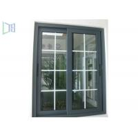 Cheap Grille Design Aluminium Sliding Windows Corner Joint System / Medium Level Window System wholesale