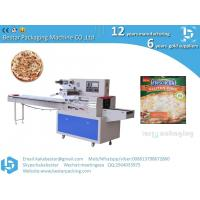 Cheap Italian handmade pizzas seafood style pizzas horizontal straight pillow automatic packaging machine for sale