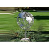 Cheap Decorative Stainless Steel Sculpture With Semi - Meridian Globe Shape for sale
