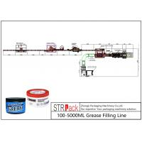Cheap 100 - 5000ml Liquid Soap Filling Machine Grease Filling Line 0.6 - 0.8MPa Working Gas Source for sale