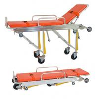 Cheap Ambulance Folding Patient Transport Stretchers Aluminum Loading With IV Pole for sale