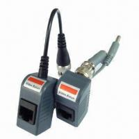 Cheap 1-channel Passive Video Balun with Power-video Signals Routed via UTP and RJ45 for sale
