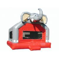 Amusement Park Cute Elephant Huge Bounce House , Small Indoor Bouncy Castle Hire