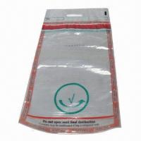Cheap Clear Security Tamper-evident Bag with Tamper-evident Tape, Used in Airport for sale