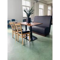 Buy cheap Restaurant Table bases Mild Steel Black Table legs Double Column Commercial from wholesalers