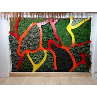 China China Made Artificial Vertical Garden Green Wall Plants Panel for Supermarket Ornament on sale