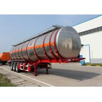 Cheap Insulated Nitrate Stainless Steel Semi Trailers Tri Axle Tanker Trailer for sale