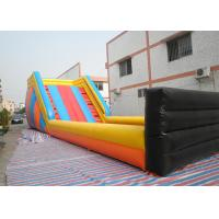 Cheap Huge Outdoor Inflatable Toys Zorb Ball Track , Commercial Inflatable Zorb Ramp for sale