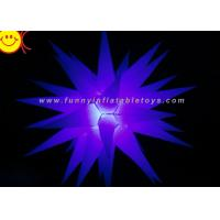 Cheap Wedding Rental Inflatable Advertising , Oxford 190T Polyester Inflatable Star With LED Changing for sale