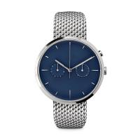 Cheap Ladies Watches Blue Face Stainless SteelCase , Ladies Silver Tone Watches for sale