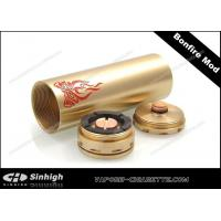 China Bonfire Mod Mechanical Mod E Cig 26500 Battery Tube 30mm Copper Golden Clone Mod on sale