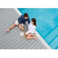 Cheap Grey WPC Composite Decking Board / Outdoor Floor Decking Tiles for sale