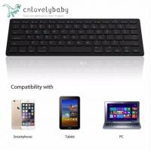 China Ultra-slim Wireless Keyboard Bluetooth 3.0 Keyboard Teclado for Tablets / Laptops / PC on sale