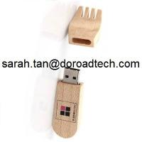 Cheap Wooden Fork Shaped USB Flash Drives, Real Capacity Wood USB Pen Drives for sale