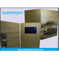 Quality Rechargeable LCD Video Brochure , Video In Print Brochure For Advertising wholesale