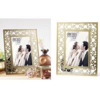 Cheap Clear Double Glass Photo Frame , Glass And Metal Picture Frames For Store Decor for sale