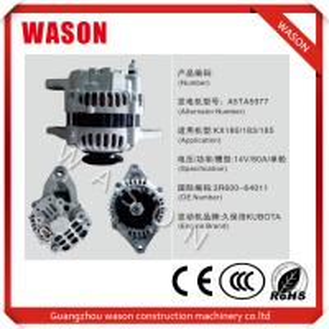 Cheap Kubota Engine A5TA5977 Excavator Alternator 3R600-64011 Kubota Tractor Alternator for sale