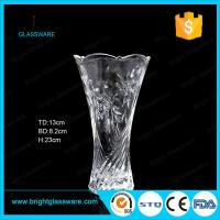 China cheap clear glass vase for decoration on sale