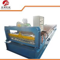 China 970 Model Color Coated Steel Sheet Roll Forming Machine / Tile Sheet Forming Machine on sale