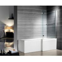 Cheap 1400x800mm Glass Shower Enclosures With Stainless Steel Hinges for sale
