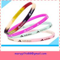 Cheap free design thin baseball silicone bracelets for sale