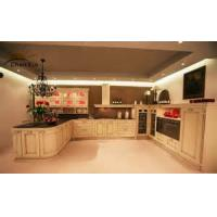 Cheap Classic Modular Kitchen Cabinets Indoor Beveled Edge PVC Membrance Surface for sale