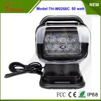 Cheap 7 inch 50w CREE led search light with 360 degrees rotating wireless remote control for sale