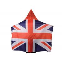 Australia Usa Flag Cape Wearable Kintted Polyester Nylon High Fastness
