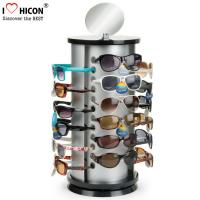 Cheap Counter Top Sunglasses Display Case Round Shape Metal Eyeglass Display Rods for sale
