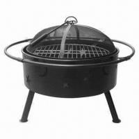 Cheap Outdoor Imitation Glaze Garden/Metal Fire Pit with Evening Sky Cut-out Design for sale